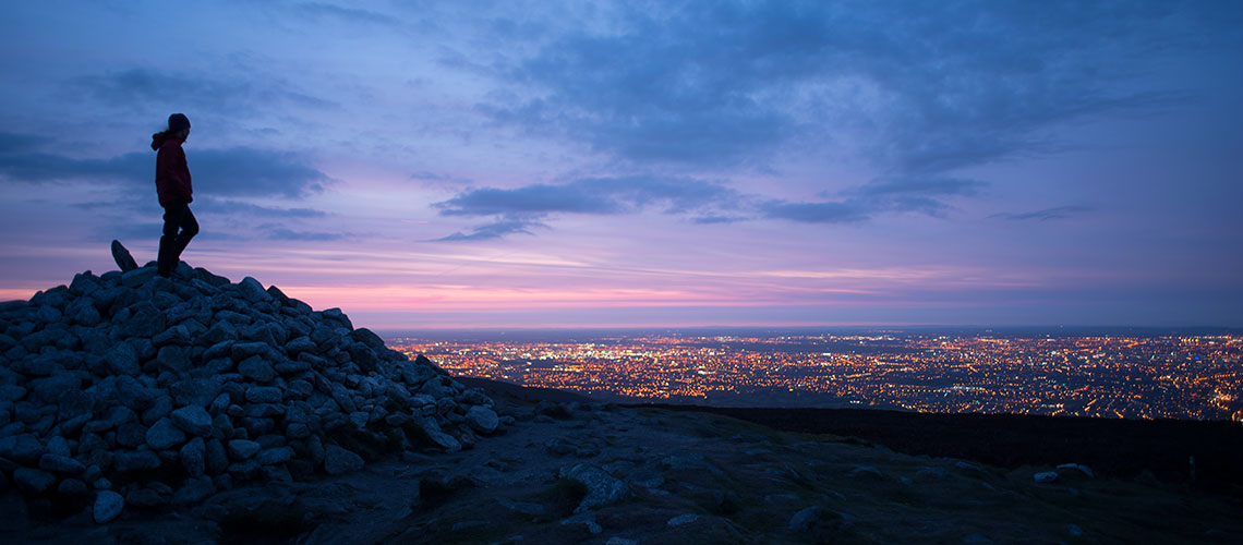 three rock, Dublin Mountains overlooking Dublin