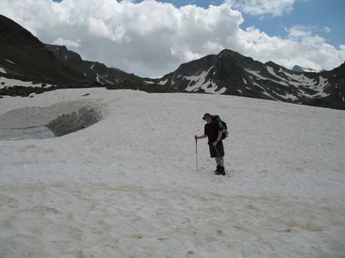 Shorts and snow - not for the first or last time!